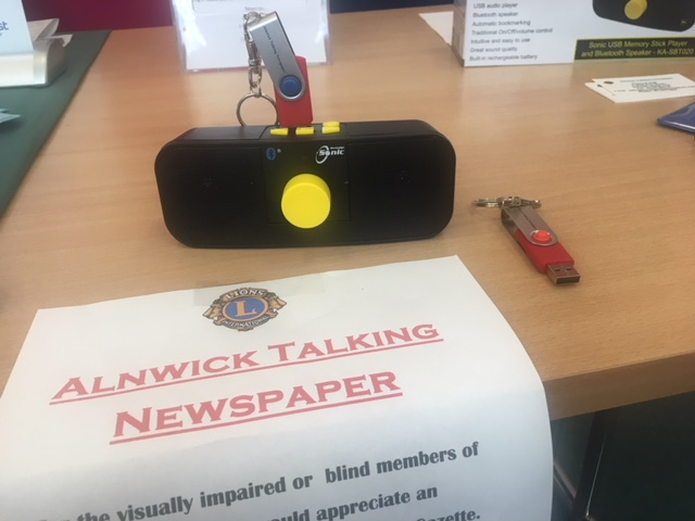 Alnwick Talking Newspaper available now